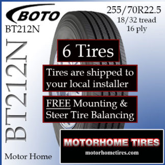 315/80R22 5 Boto BT219 Set Of 4 Free Nationwide Installation